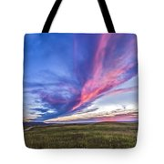 Colorful Sunset At The Reesor Ranch Tote Bag