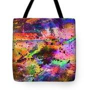 Colorful Sunset Debris  Tote Bag