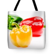 Colorful Sweet Peppers Tote Bag by Setsiri Silapasuwanchai