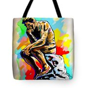 Colorful Thinker Tote Bag