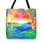 Colorful Tropics 12 Tote Bag