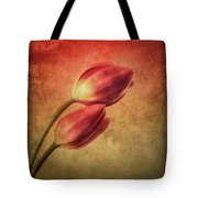 Colorful Tulips Textured Tote Bag
