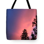Colorful Twilight Time Tote Bag