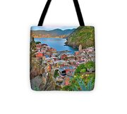 Colorful Vernazza From Behind Tote Bag