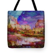 Colorful Vista Tote Bag
