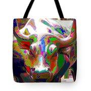 Colorful Wall Street Bull Tote Bag