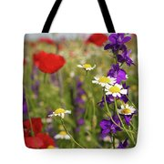 Colorful Wild Flowers Nature Spring Scene Tote Bag