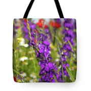 Colorful Wild Flowers Spring Scene Tote Bag
