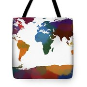 Colorful World Map Tote Bag