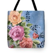Colorfull Roses Tote Bag