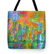 Coloring The Big Apple Stage One Tote Bag