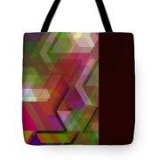 Dark Colorist Geometric Composition Tote Bag