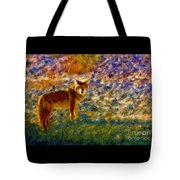 Colorized Death Valley Coyote Tote Bag