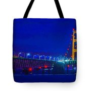 Colors Of Mackinac At Dusk Tote Bag