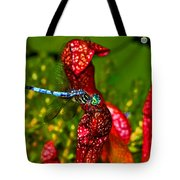 Colors Of Nature - Profile Of A Dragonfly 003 Tote Bag
