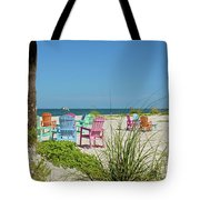 Colors Of The Seats Tote Bag