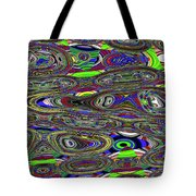 Colors Rolled And Flattened Abstract Tote Bag