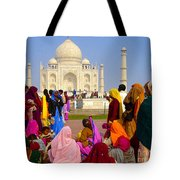 Colorful Saris At Taj Mahal Tote Bag