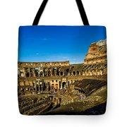 Colosseum In Rome Interior Tote Bag