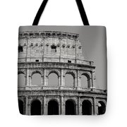 Colosseum Or Coliseum Black And White Tote Bag