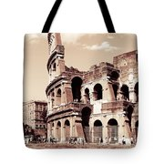 Colosseum Toned Sepia Tote Bag by Stefano Senise