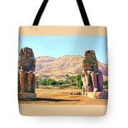 Colossi Of Memnon Tote Bag