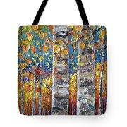 Colourful Autumn Aspen Trees By Lena Owens @olena Art Tote Bag