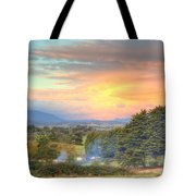 Colourful Clouds At Sunset Yarra Glen 09-05-2015 Tote Bag