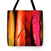Colourful Feather Art Tote Bag