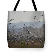 Colourful Flying Chaos Tote Bag