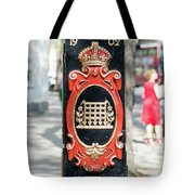Colourful Lamp Post With The City Of Westminster Coat Of Arms London Tote Bag