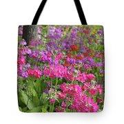 Colourful Primula Candelabra At Wisley Gardens Surrey Tote Bag