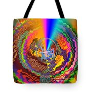 Colourful Swirl Of Goodluck Tote Bag