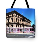 Colourful Tram At Old Treasury Building Tote Bag