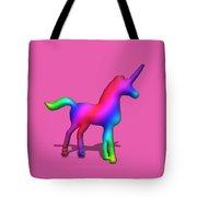 Colourful Unicorn In 3d Tote Bag