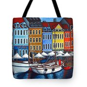 Colours Of Nyhavn Tote Bag by Lisa  Lorenz