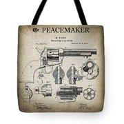 Colt .45 Peacemaker Revolver Patent  1875 Tote Bag