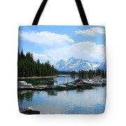 Colter Bay On Jackson Lake  Tote Bag