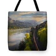 Columbia Gorge Train Tote Bag