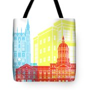 Columbia Mo Skyline Pop Tote Bag