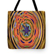 Columbia River Abstract #8045 Tote Bag