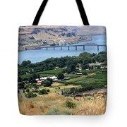 Columbia River And Biggs Bridge Tote Bag