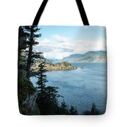 Columbia River Cliffside Tote Bag
