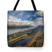 Columbia River Gorge In Autumn Tote Bag