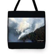 Columbia River Gorge Wildfire 2017 Tote Bag
