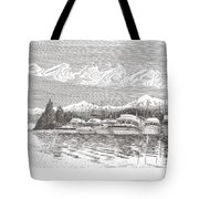 Columbia River Raft Up Tote Bag