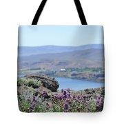 Columbia River Scenic Blooms #1 Tote Bag