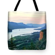 Columbia River With Vista House Tote Bag