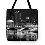 Columbus Black Night Tote Bag