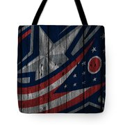 Columbus Blue Jackets Wood Fence Tote Bag